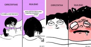 9 Ilustraciones divertidas sobre Expectativa vs. Realidad al momento de la intimidad