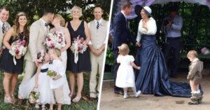 16 Veces en que los pajecitos de boda se robaron la atención de los novios