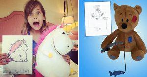 Increíble Artista Transforma Dibujos Infantiles En Verdaderos Peluches