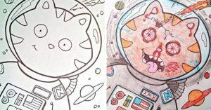 17 Dibujos para colorear que han sido corrompidos por adultos perturbados