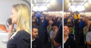 Subieron al avión y cuando la azafata comenzó a hablar no pudieron parar de reírse
