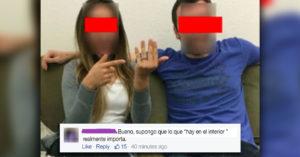 Anuncian su compromiso en Facebook, de inmediato se arrepintieron ¡olvidaron revisar el fondo!