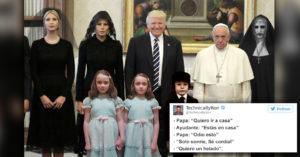 19 Tuits divertidos que evidenciaron la triste reunión entre el papa y Donald Trump