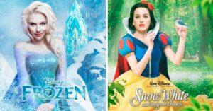 """Mira a tus actrices favoritas dando """"vida"""" a las princesas de Disney"""