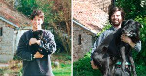 Estas personas revivieron su infancia recreando sus fotos de pequeños
