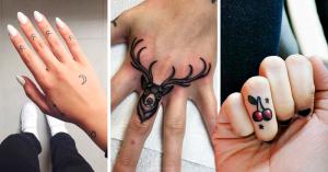20 Sutiles y originales ideas para tatuarte los dedos