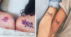 17 Ideas de tatuajes para las hermanas más unidas