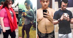 22 Personas que lucen irreconocibles después de perder los kilos de más