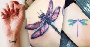 Cover tatuajes de libélulas