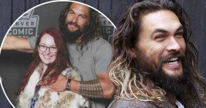 Su esposo quiso colarse en la foto con Jason Momoa, ¡y el actor lo trolleo!