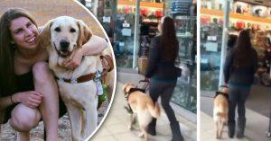 Perro de asistencia engaña a su dueña y la lleva a la tienda de golosinas