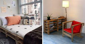 15 Ideas fabulosas y económicas para crear muebles con tarimas