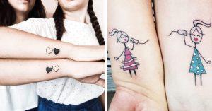 15 Diseños de tatuajes para esas hermanas inseparables
