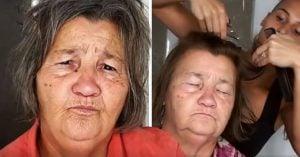 Le hace cambio de look a su abuela de 70 años y la deja IRRECONOCIBLE