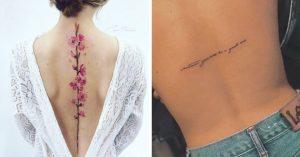 11 Tataujes perfectos y femeninos para lucir en la espalda