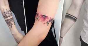 20 Tatuajes brazalete que serán tu accesorio permanente favorito