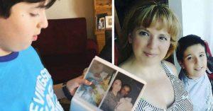 Conmovedor; niño busca celular perdido con los recuerdos de su madre