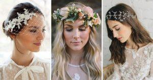 17 Tocados de novia no convencionales que serán tendencia este año