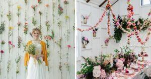 20 Hermosas ideas para decorar con guirnaldas de flores