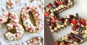 15 Pasteles en forma de número que son demasiados hermosos para comer