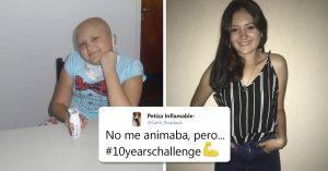 Joven le ganó al cáncer y conquista a todos con su #10YearsChallenge