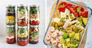 20 Ideas de ensaladas ricas y sanas para llevar a la oficina
