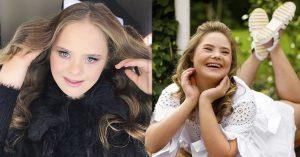 Hermosa adolescente con síndrome de Down persigue su sueño y triunfa como modelo