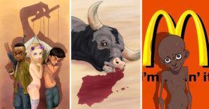 18 Ilustraciones que muestran el lado podrido de la sociedad de una manera muy directa