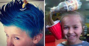 Sorpréndete, El 'Día del Peinado Loco' existe en algunas escuelas y estos son los 20 más divertidos